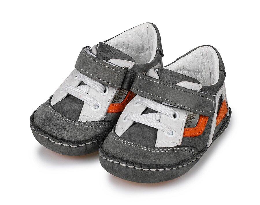 resm Gri Deri Erkek Çocuk Casual Ayakkabı