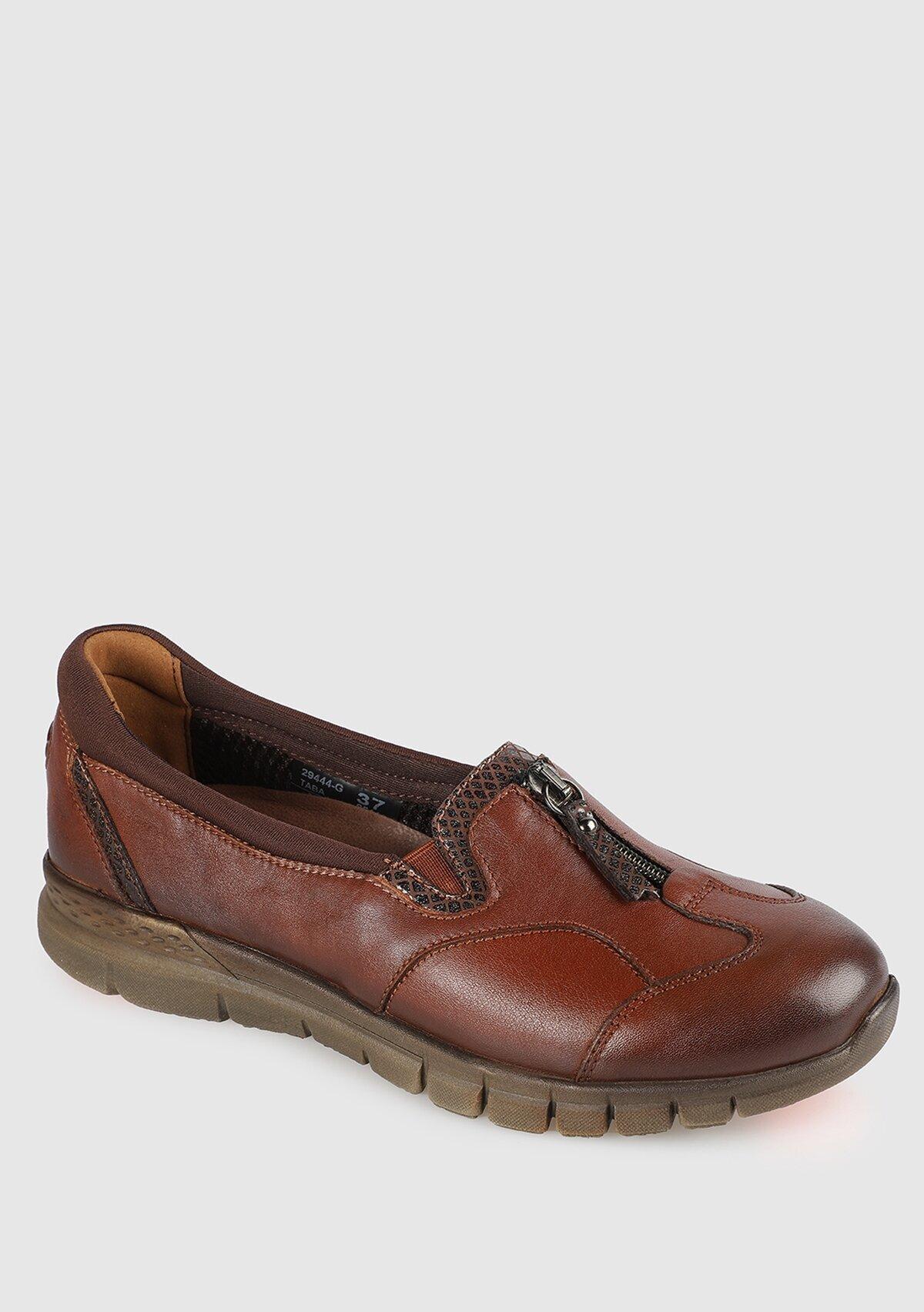 resm Taba Deri Kadın Casual Ayakkabı