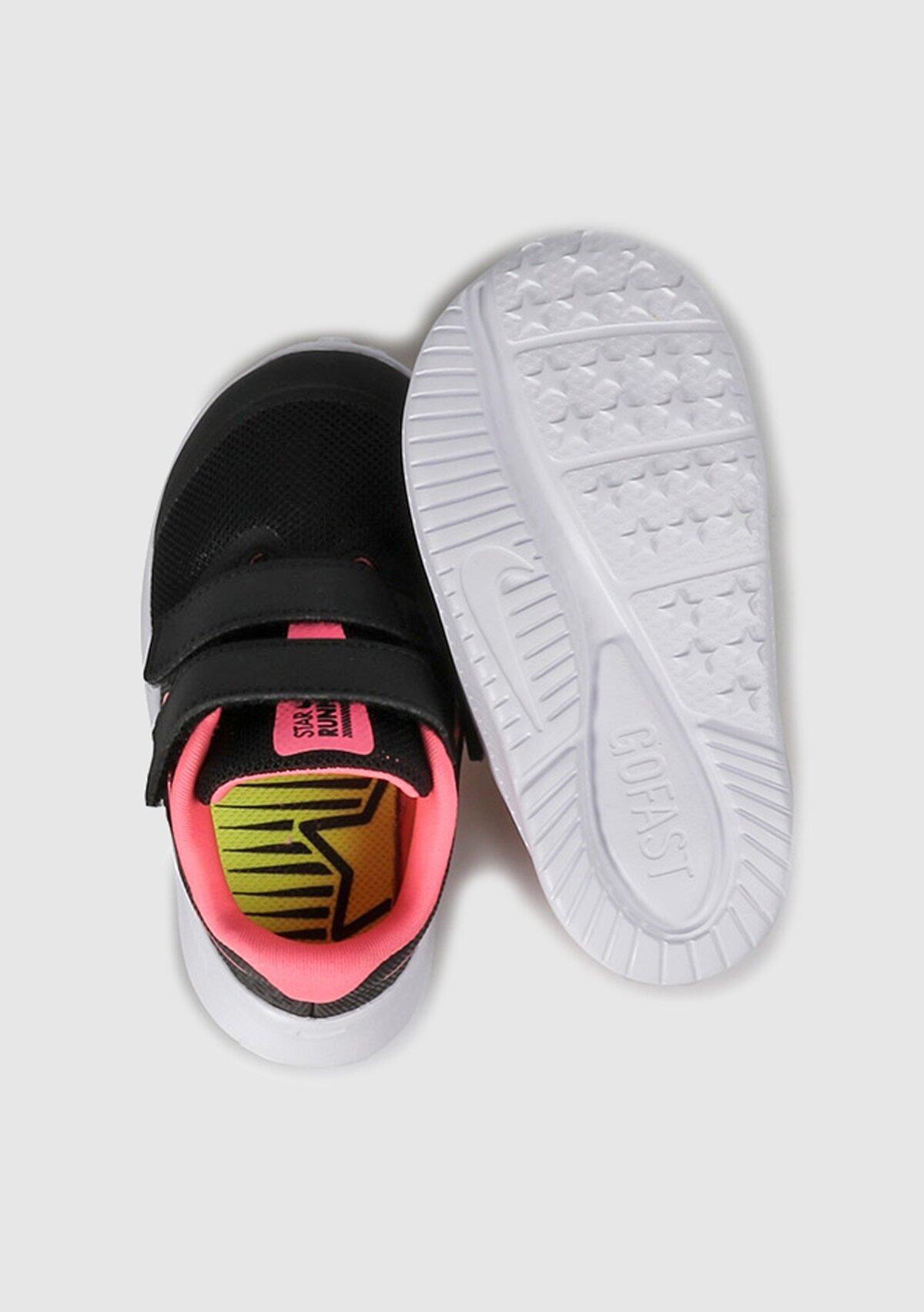 resm Star Runner 2 Siyah Kız Çocuk Koşu Ayakkabısı At1803-002