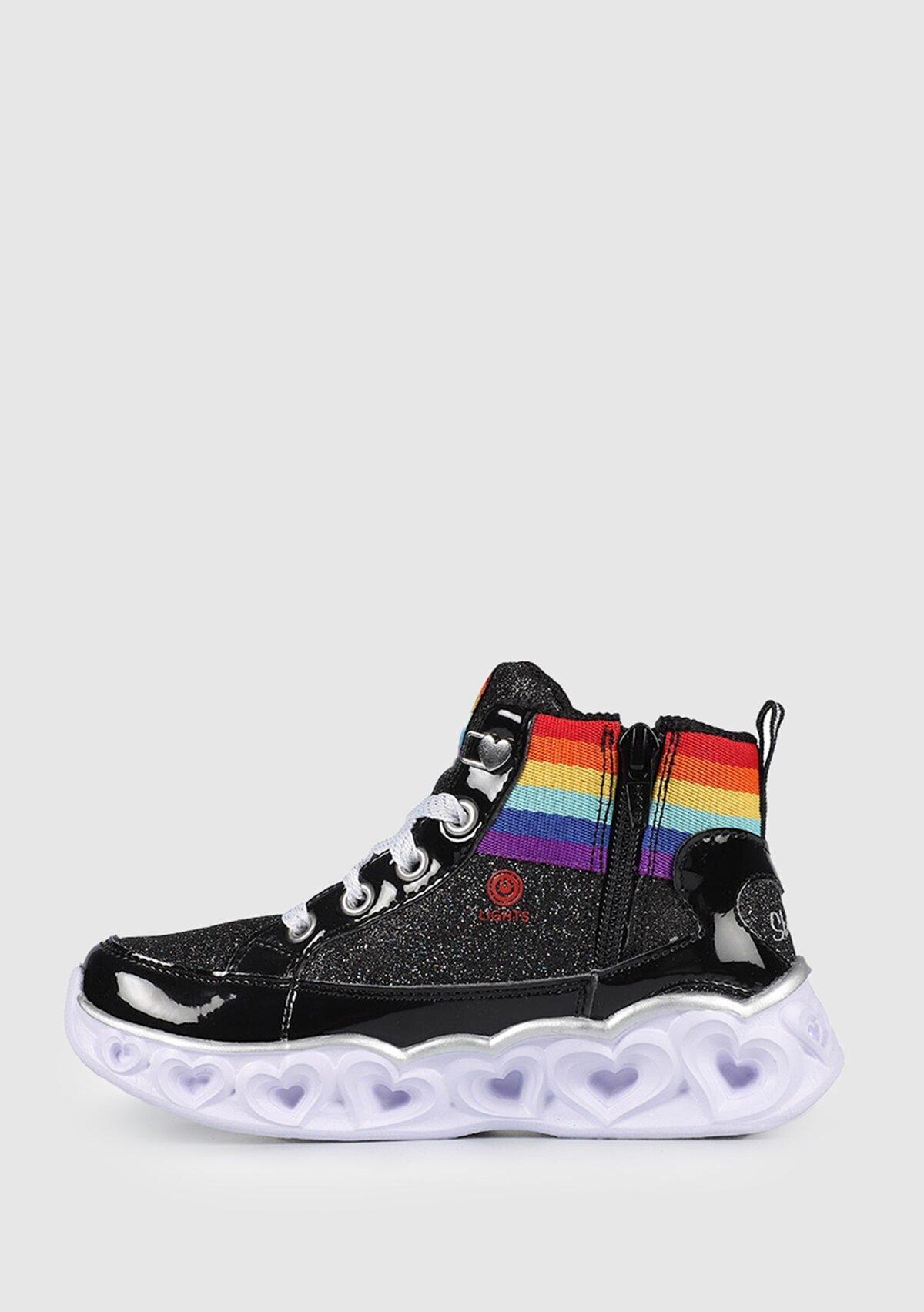 resm Heart Lights Işıklı Siyah Sneaker 20272Lbkmt