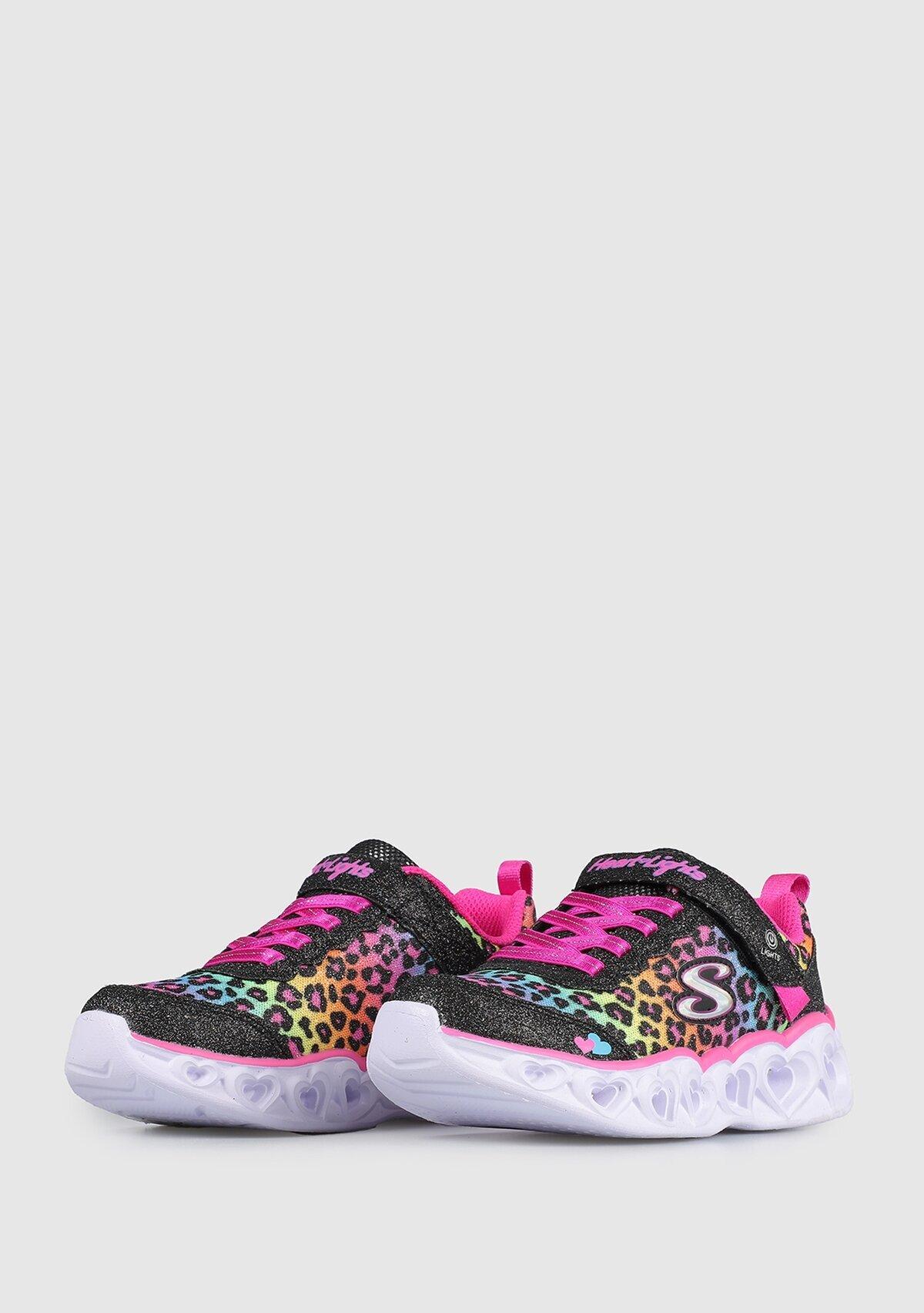resm Heart Lights Siyah Spor Ayakkabı 302145Lbkmt