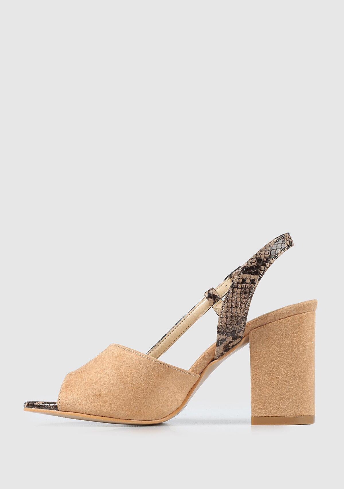 resm Kahve Kadın Topuklu Sandalet