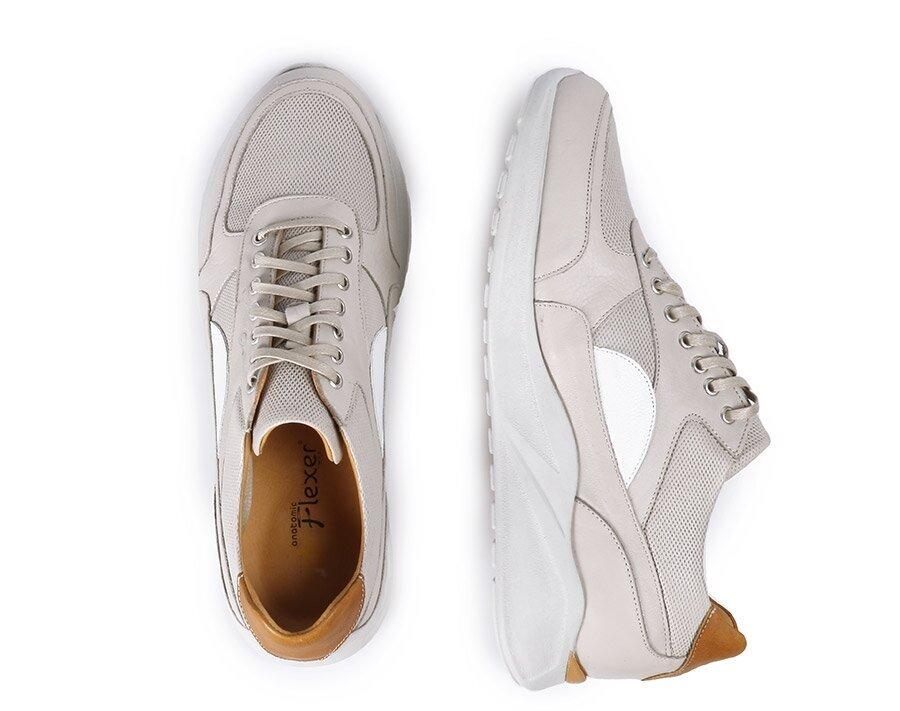 resm Bej Deri Erkek Casual Ayakkabı