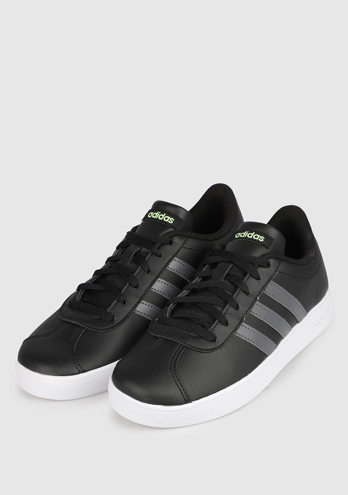 resm Vl Court K Siyah Kadın Tenis Ayakkabısı F36381