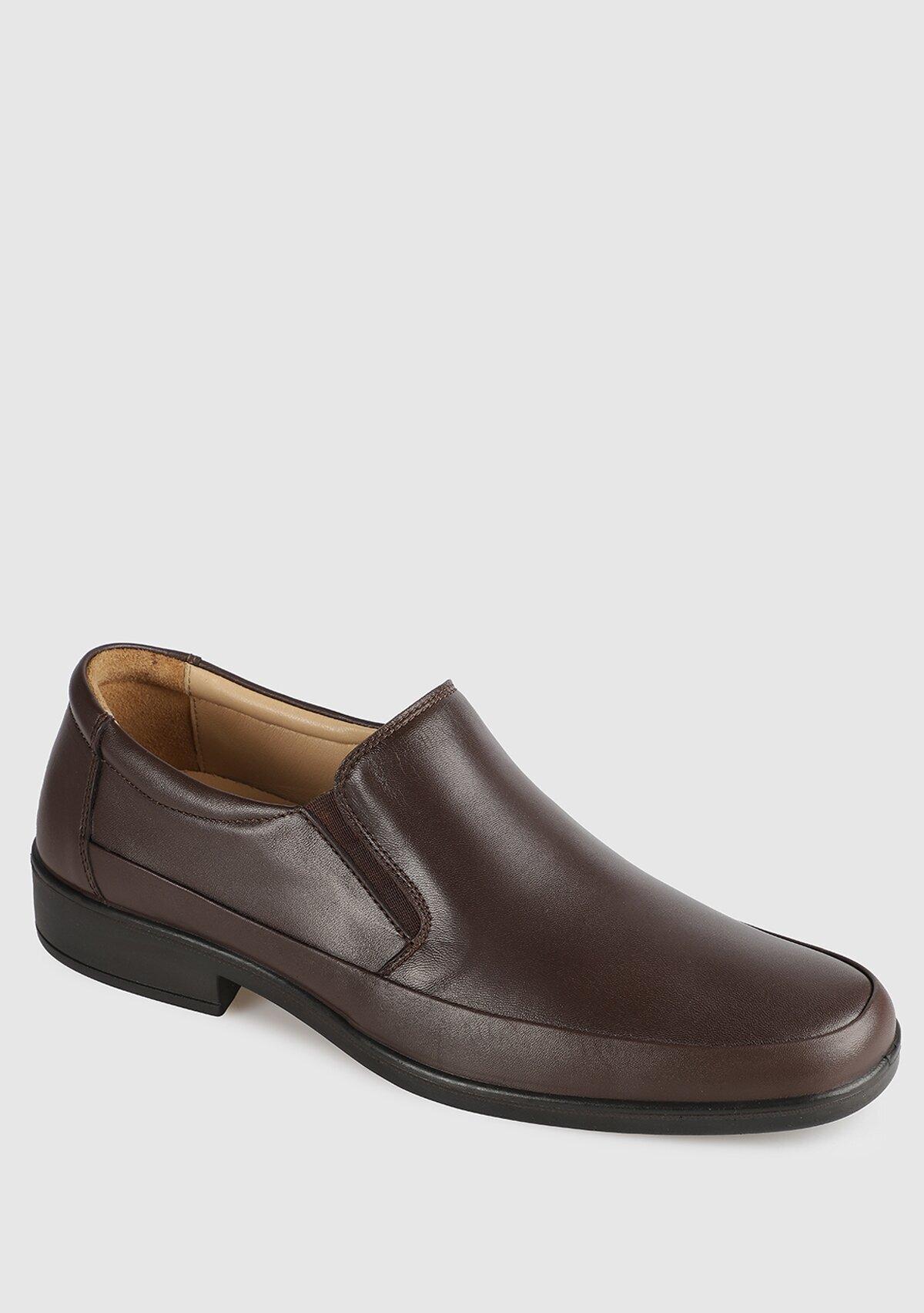 resm Kahve Deri Erkek Konfor Ayakkabı