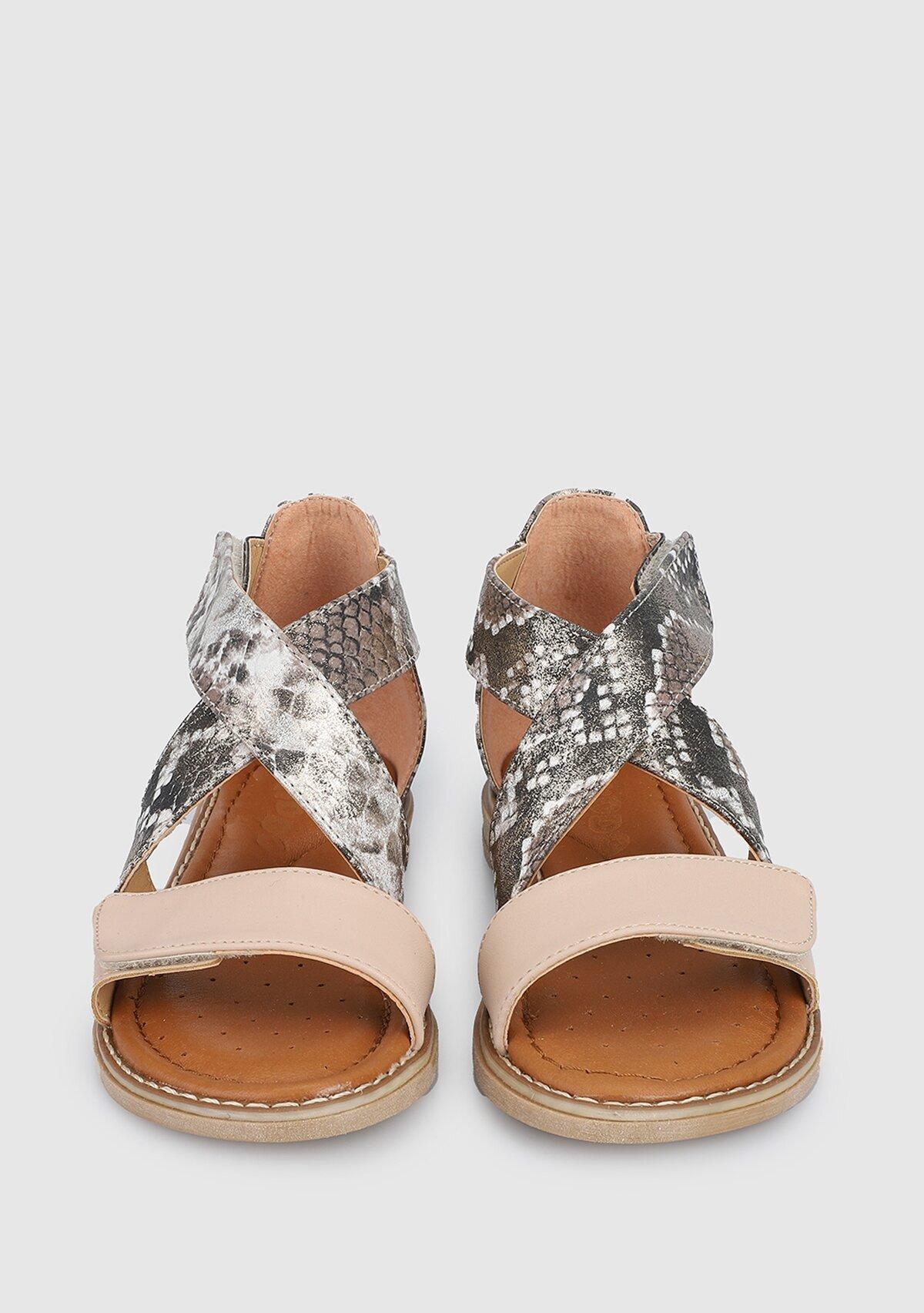 resm Krem Kız Çocuk Düz Sandalet