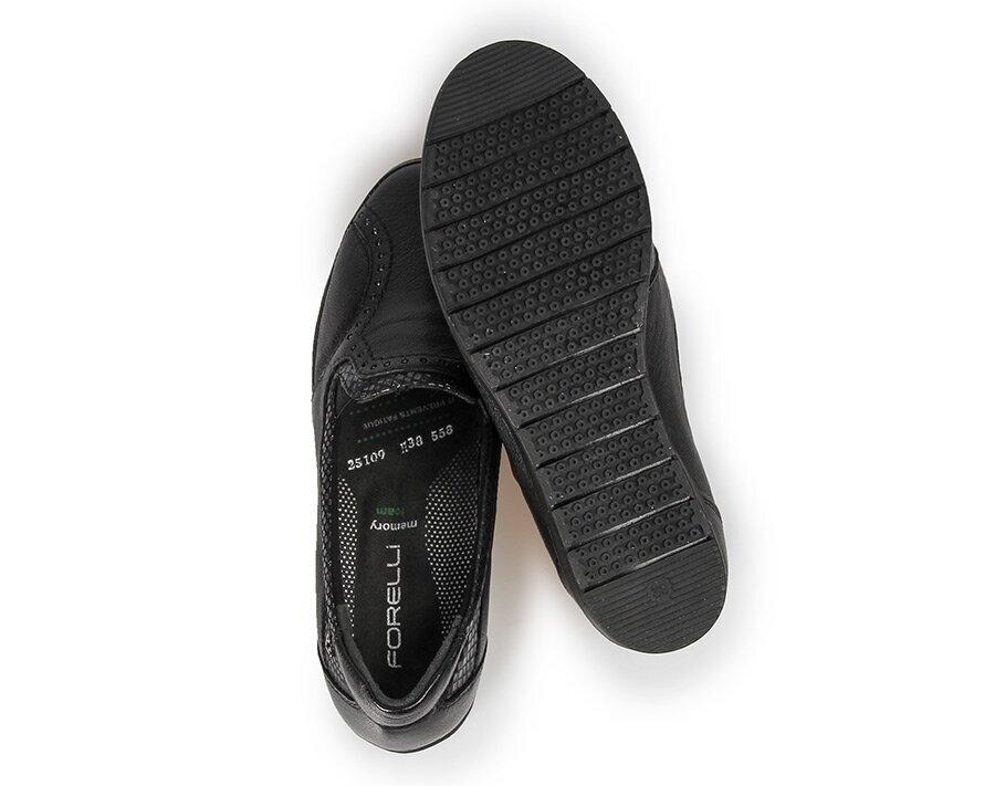 resm Kahve Deri Kadın Konfor Ayakkabı