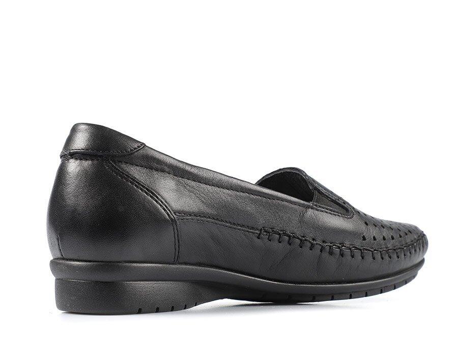 resm Siyah Deri Kadın Casual Ayakkabı