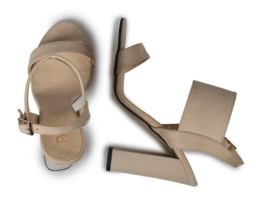 resm Bej Kadın Topuklu Sandalet