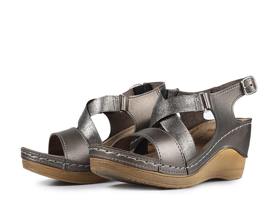 resm Platin Kadın Konfor Sandalet