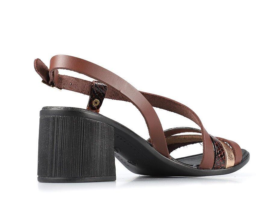 resm Kahve Deri Kadın Topuklu Sandalet