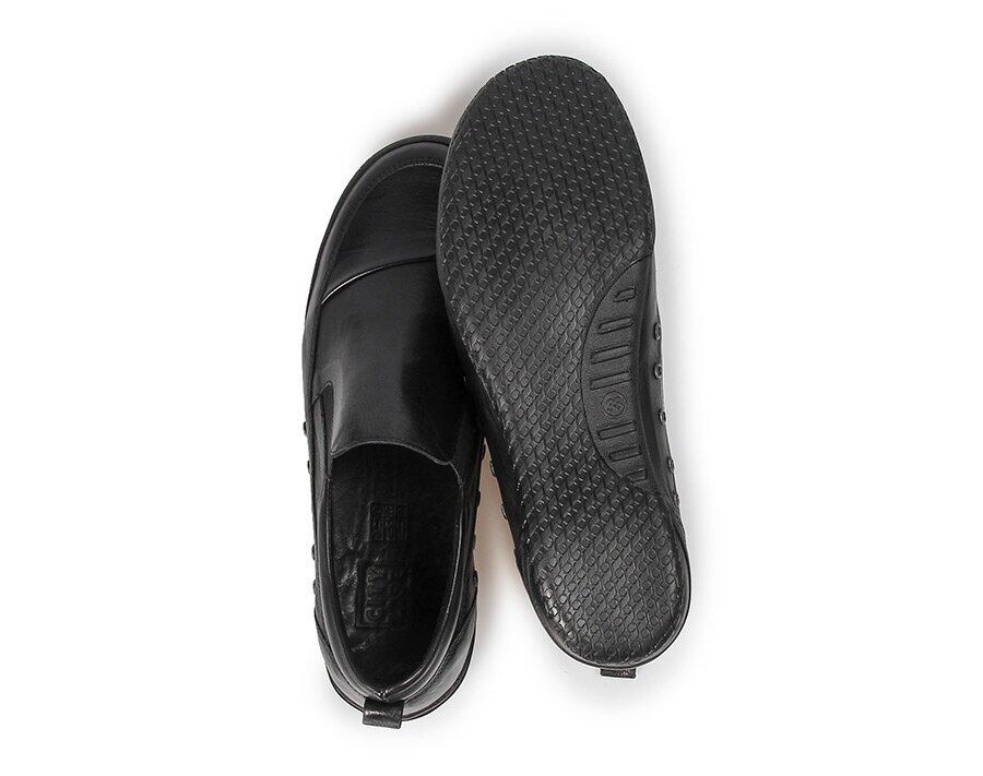 resm Siyah Deri Kadın Ayakkabı