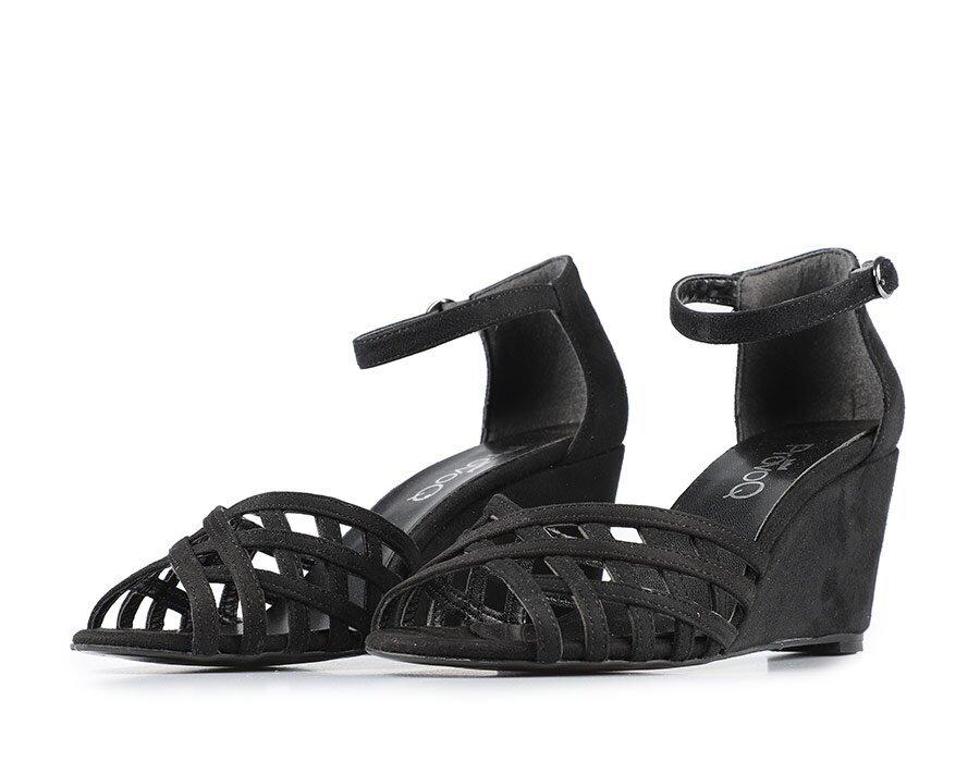resm Siyah Kadın Topuklu Sandalet