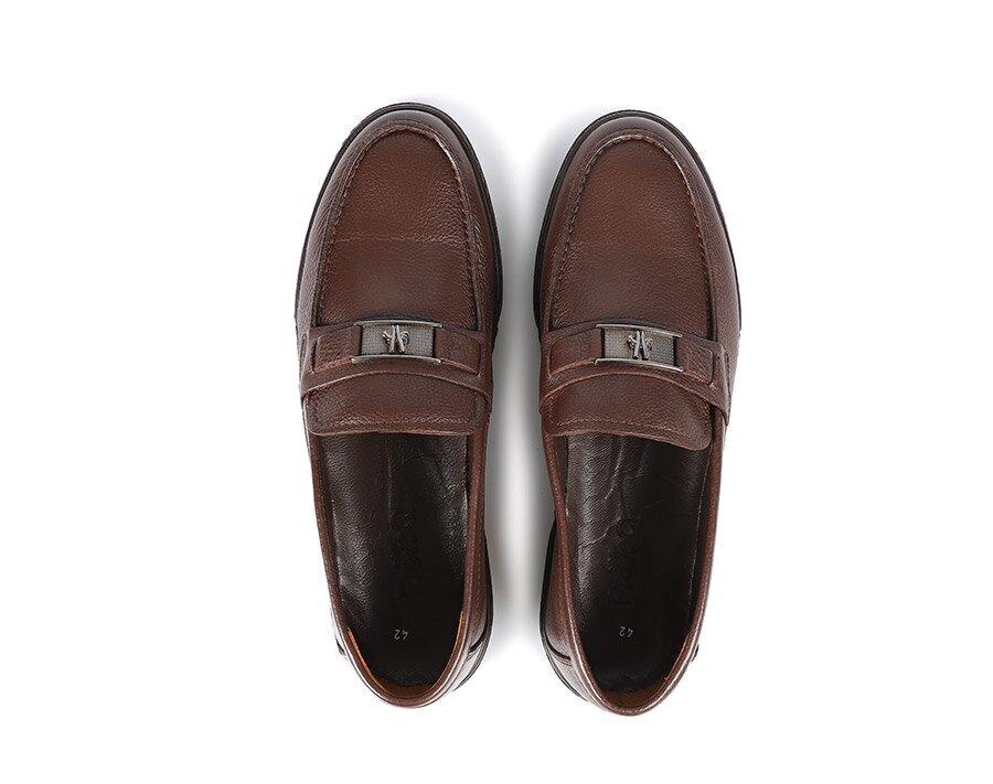 resm Kahve Deri Erkek Makosen Ayakkabı