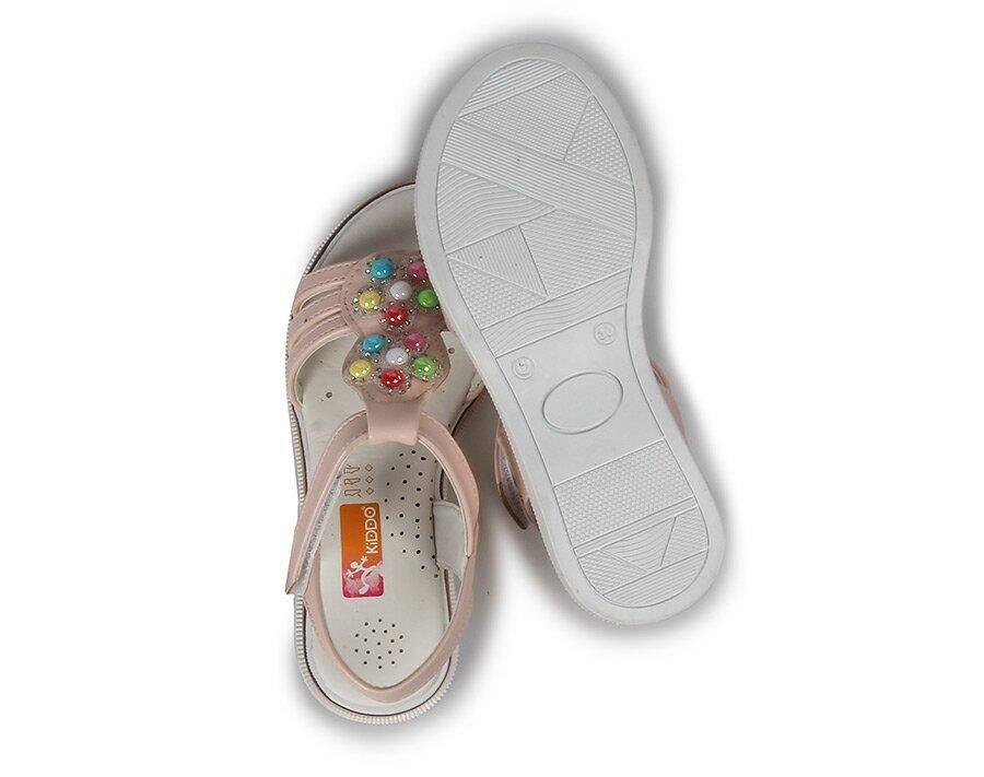 resm Pudra Kız Çocuk Düz Sandalet