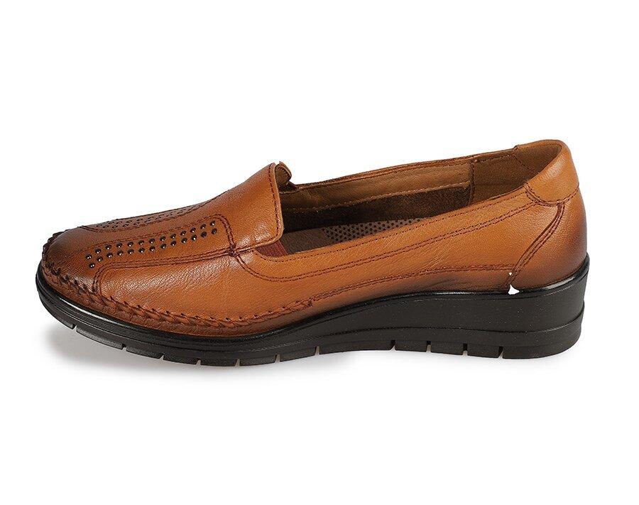 resm Taba Deri Kadın Konfor Ayakkabı