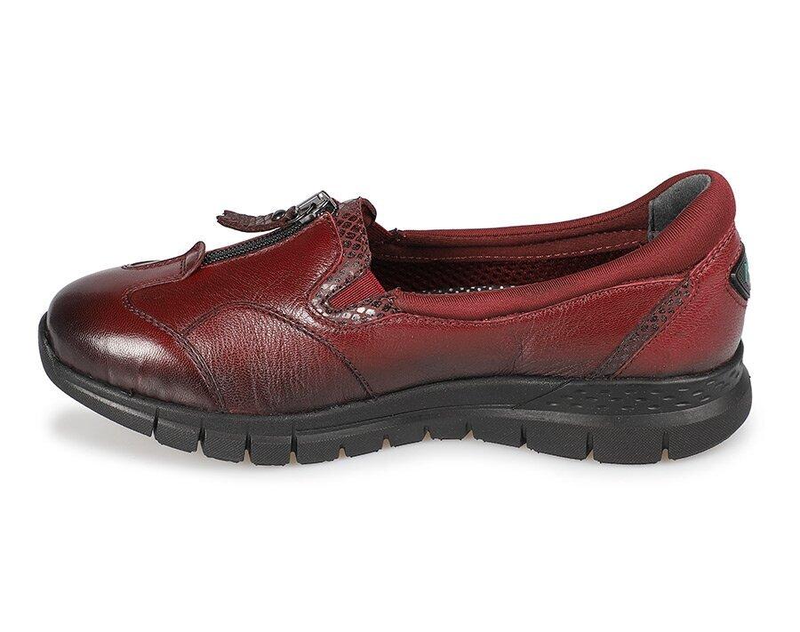 resm Bordo Deri Kadın Konfor Ayakkabı