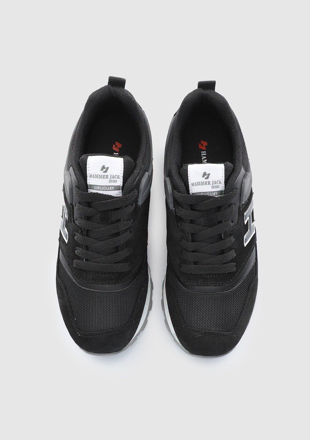 resm Siyah-Koyu Gri Kadın Sneaker