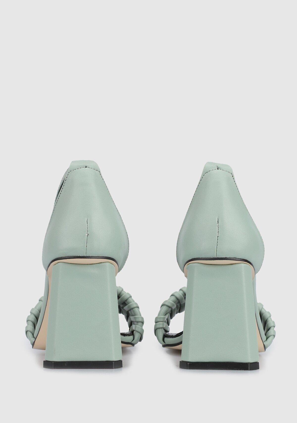 resm Yeşil Kadın Topuklu Sandalet