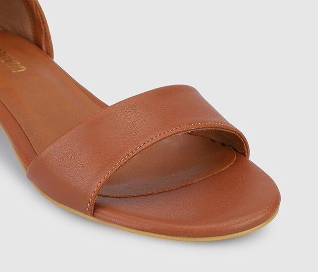 resm Taba Kadın Düz Sandalet