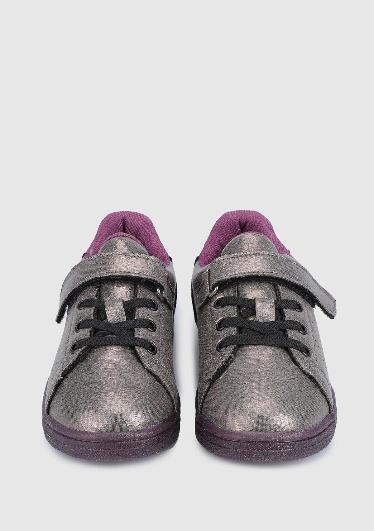resm Hml Busan Shıny Jr Gri Kız Çocuk Sneaker 212669