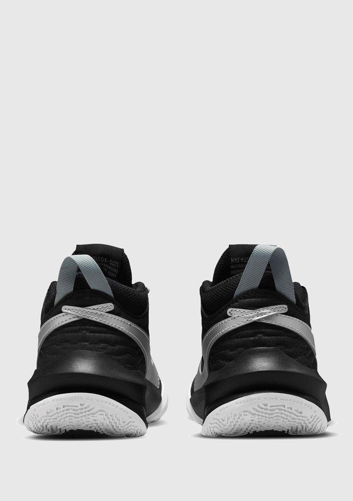 resm Team Hustle D 10 Siyah Unisex Basketbol Ayakkabısı
