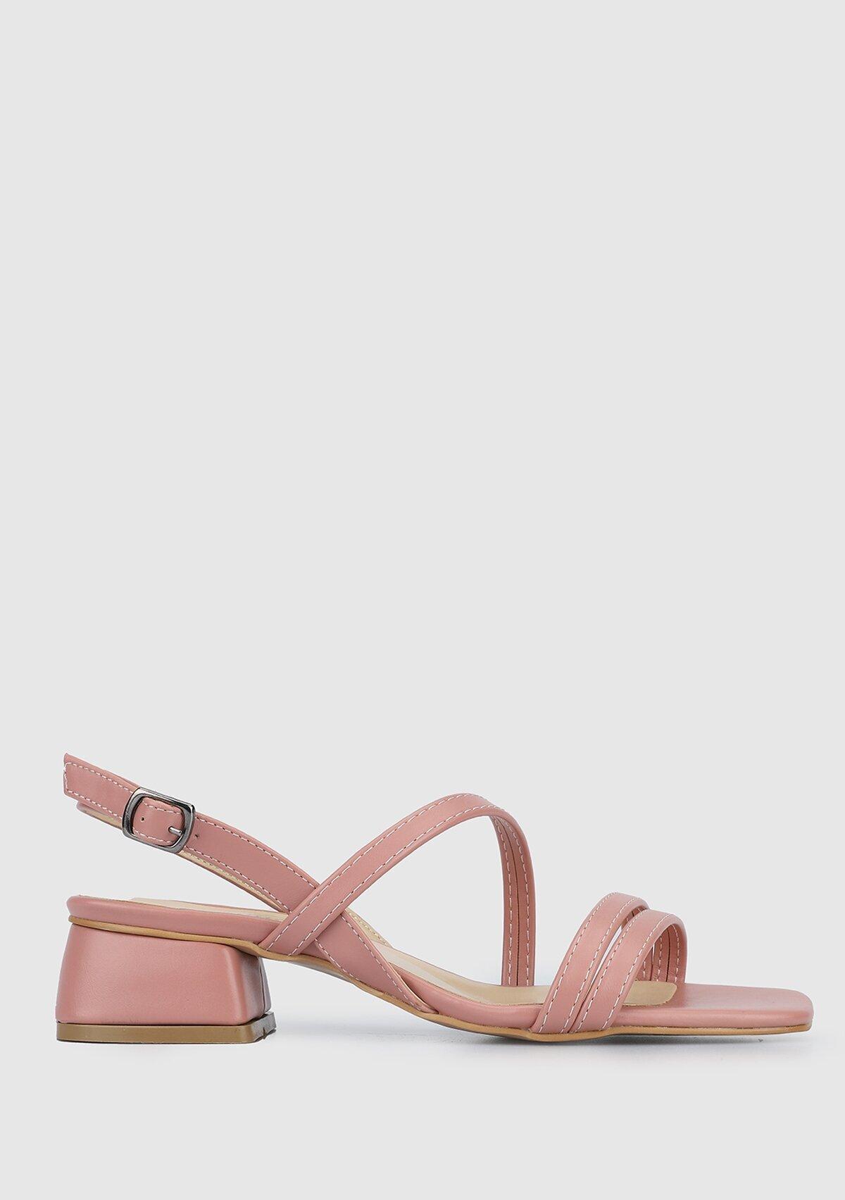 resm Gül Kurusu Kadın Topuklu Sandalet