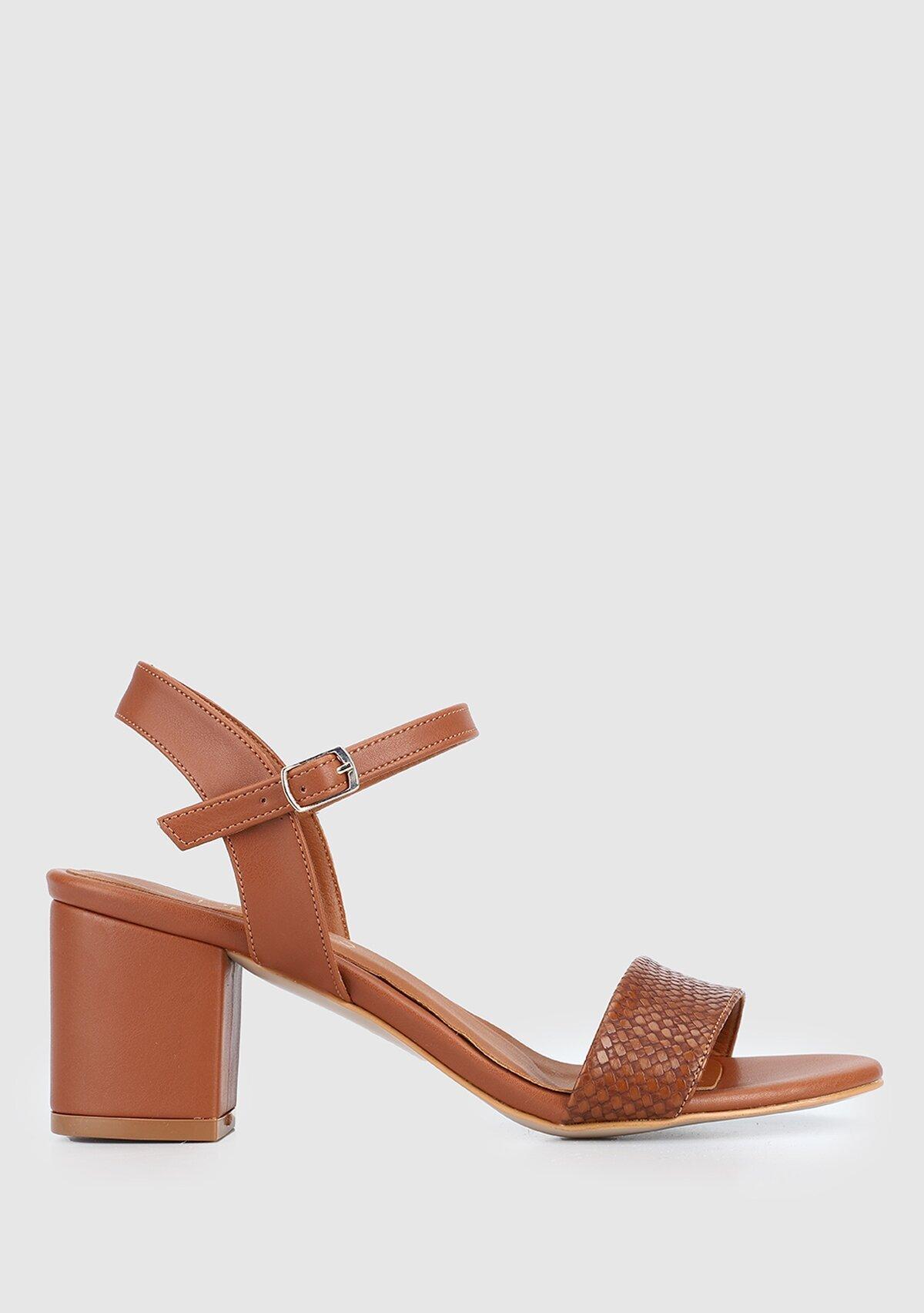 resm Taba Kadın Topuklu Sandalet