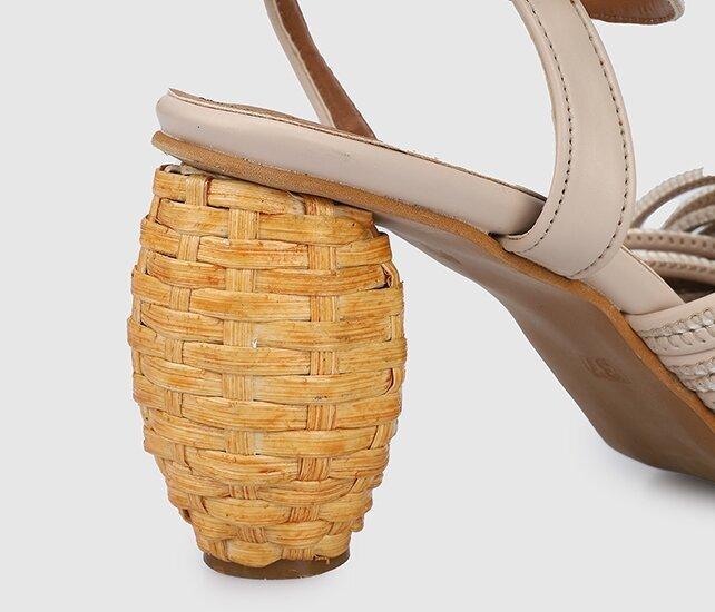 resm Nude Kadın Topuklu Sandalet