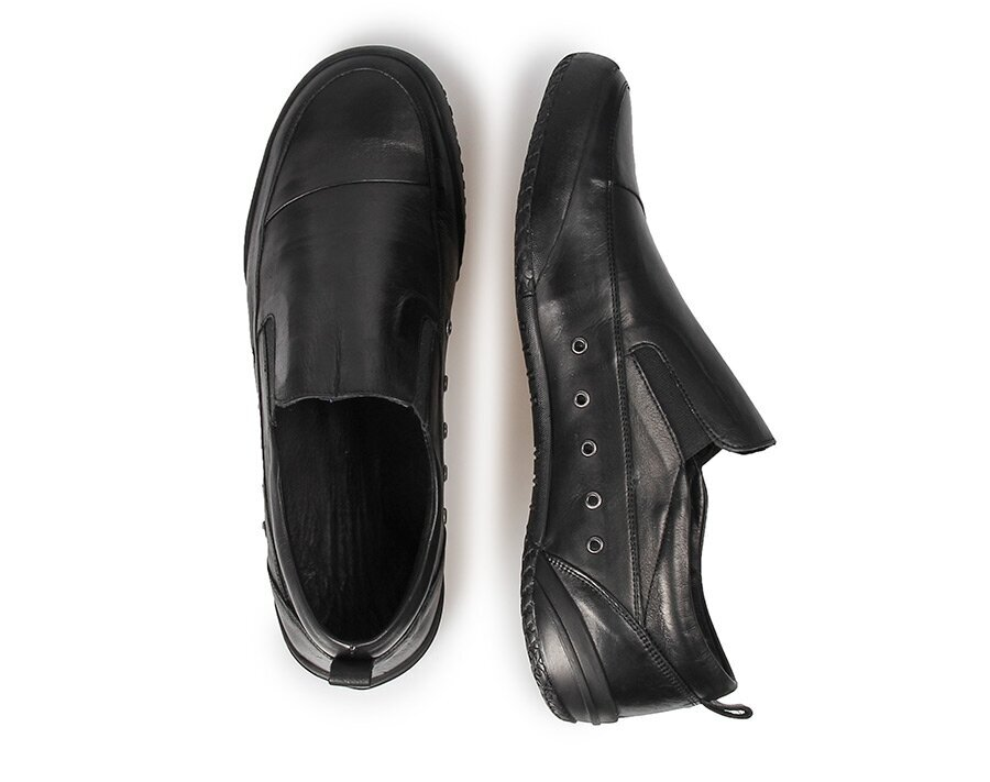 resm Siyah Deri Erkek Slip-On