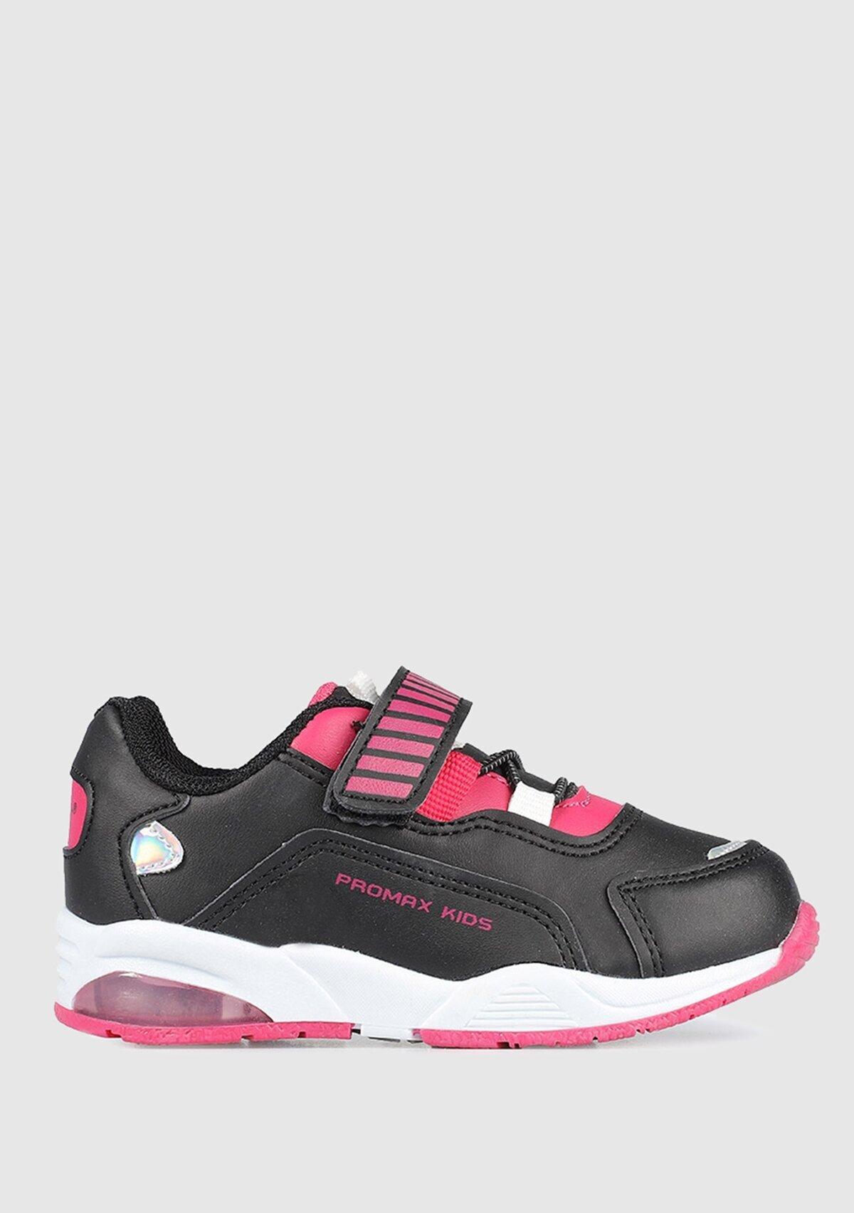 resm Siyah-Fuşya Erkek Çocuk Sneaker