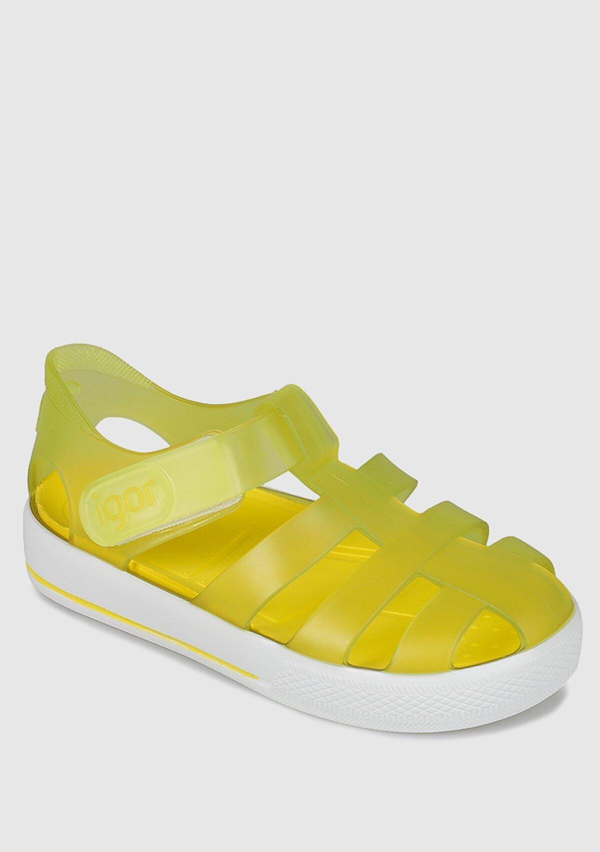 resm Sarı  Düz Sandalet
