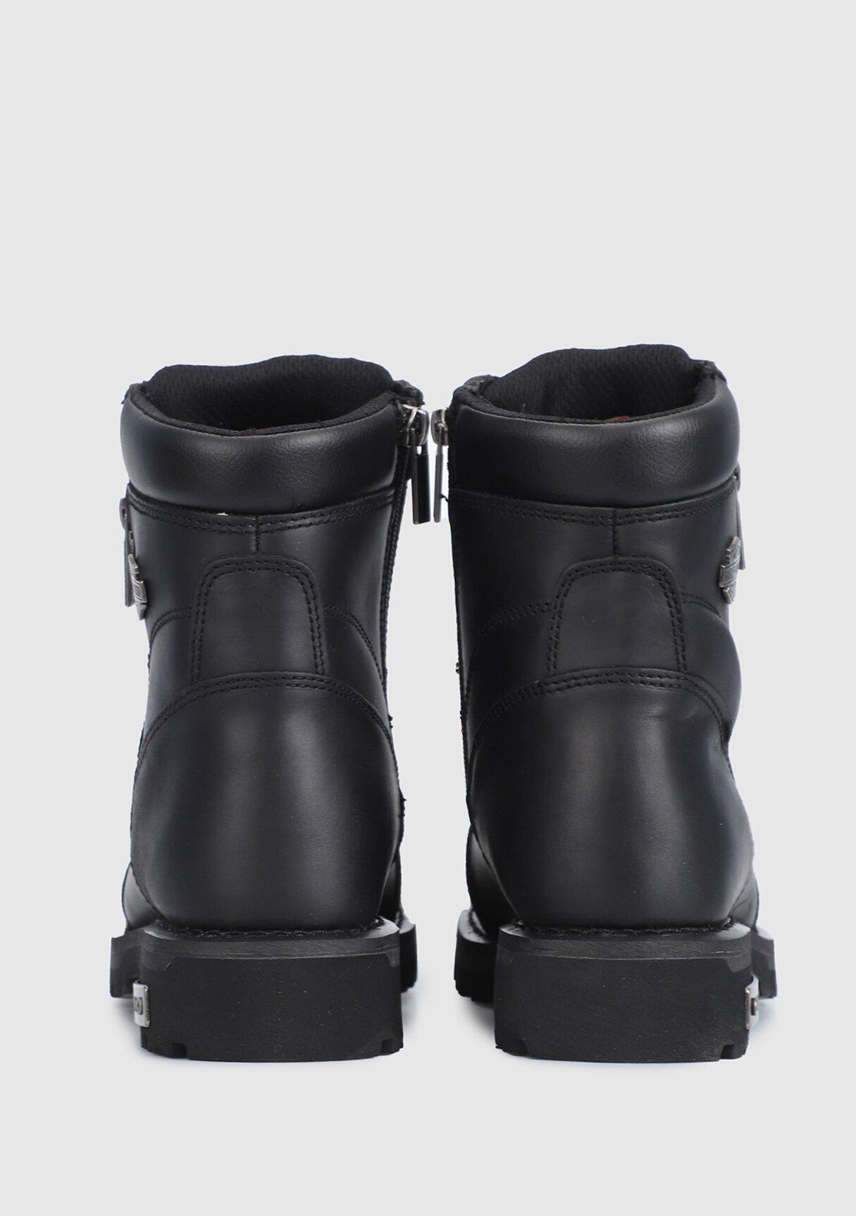 resm Renshaw Siyah Yağlı Deri Erkek Asker Botu CMM0600A