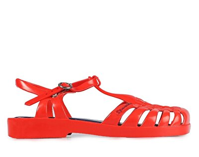 Resim Kırmızı Kız Çocuk Topuklu Sandalet
