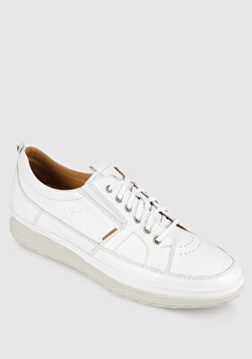 Resim Beyaz Deri Erkek Casual Ayakkabı