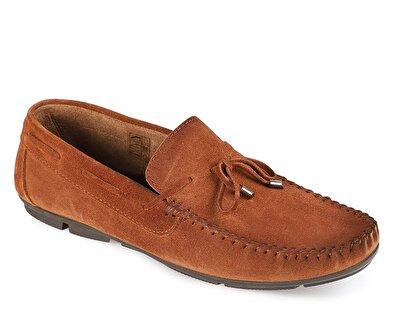 Resim Taba Deri Erkek Makosen Ayakkabı