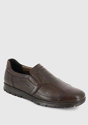Resim Kahve Deri Erkek Konfor Ayakkabı