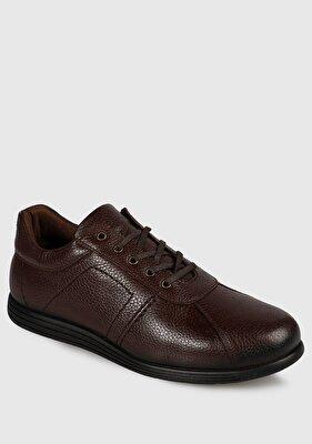 Resim Kahve Deri Erkek Casual Ayakkabı