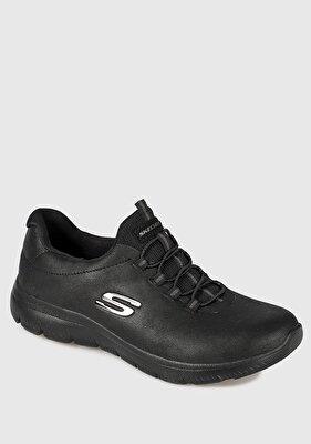 Resim Summits Microfiber Siyah Kadın Sneaker 88888301Bbk