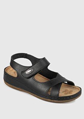 Resim Siyah Kadın Konfor Sandalet