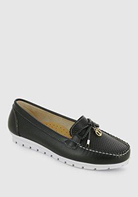 Resim Siyah Kadın Loafer Ayakkabı