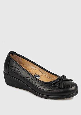 Resim Siyah Kadın Konfor Ayakkabı