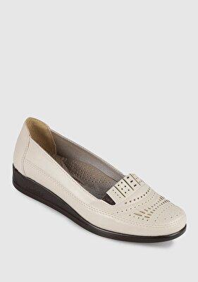 Resim Bej Kadın Konfor Ayakkabı