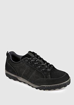 Resim Siyah Deri Nubuk Erkek Casual Ayakkabı