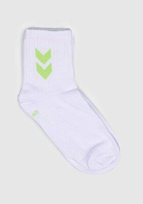 Resim Hml Short Sport 1Pk Rıght Side Design Beyaz Unisex Çorap 970158-9001