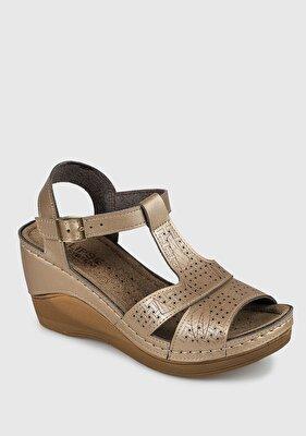 Resim Altın Kadın Konfor Sandalet