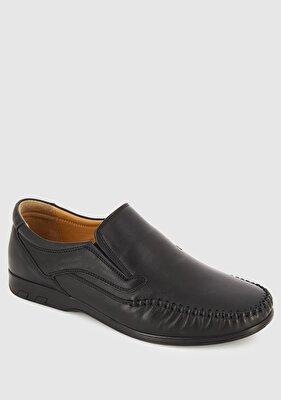Resim Siyah Deri Erkek Konfor Ayakkabı