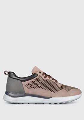 Resim Bej Deri Erkek Sneaker