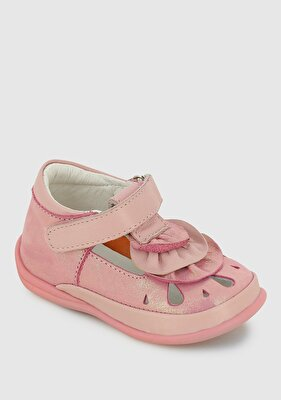 Resim Pembe Deri Kız Çocuk Casual Ayakkabı