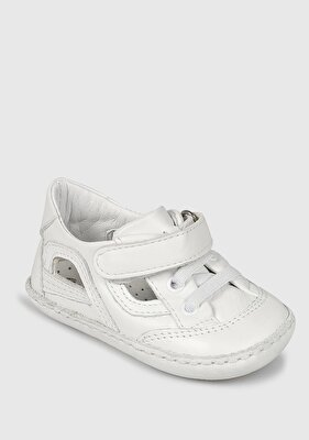 Resim Beyaz Deri Erkek Çocuk Casual Ayakkabı